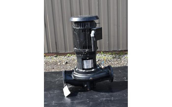 "Used USED CENTRIFUGAL PUMP, 3"" X 3"" INLET & OUTLET, CAST IRON, GRUNDFOS IN-LINE PUMP"