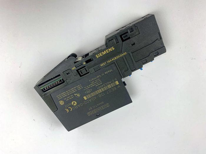 Used SIEMENS 6ES7 138-4DA02-0AB0 Electronics Module with Terminal (6ES7 193-4CB20-0AA0)