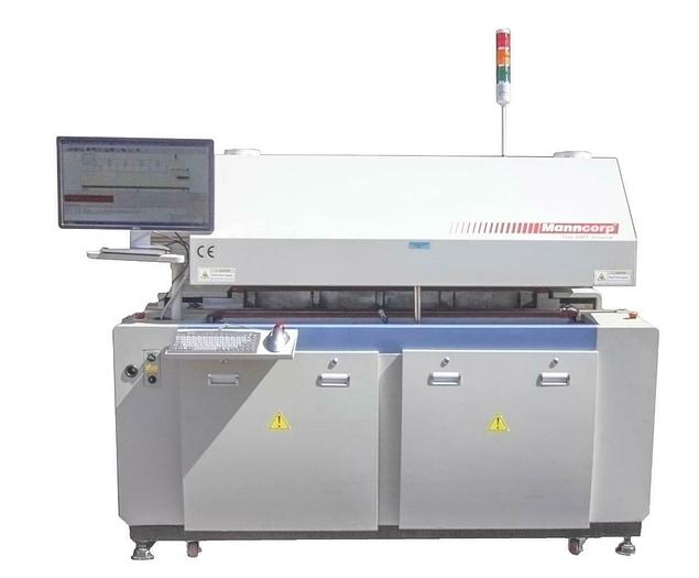 Used Manncorp CR-4000-C Lead Free 4-Zone SMT Reflow Oven w/ Computer + UPS (9024)