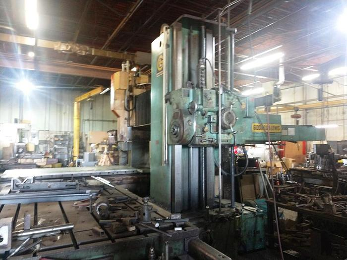Used 1970 Giddings & Lewis Horizontal Boring Mill, Model 70 D5-T, Table 60 X 120, Y-72""