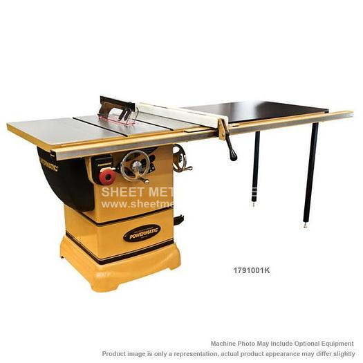 "POWERMATIC PM1000 Tablesaw 1-3/4HP 1PH 115V 52"" Accu-Fence System with Riving Knife 1791001K"