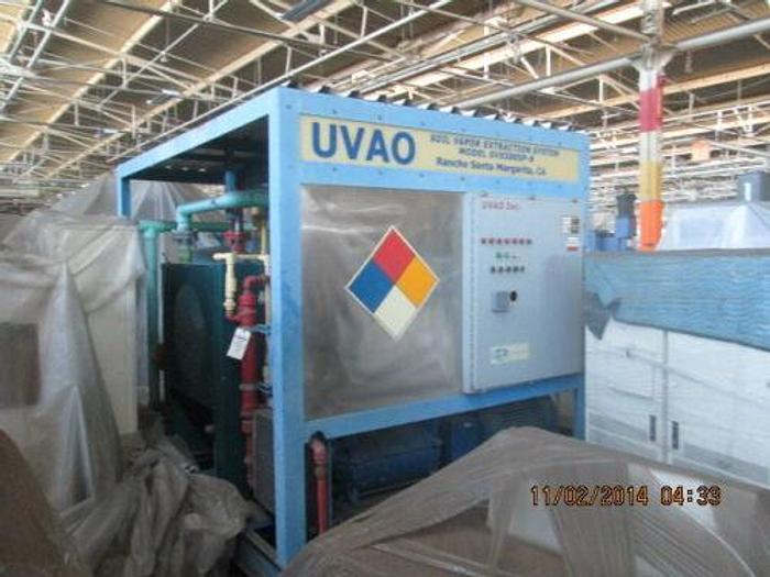 Used 500 CFM UVAO SOLAR VAPOR EXTRACTION SYSTEM