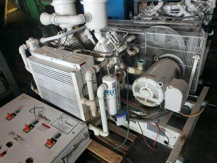 QUINCY MODEL QRDT 30 OIL FREE 2 STAGE 30 HP RECIPROCATING COMPRESSOR /BEST