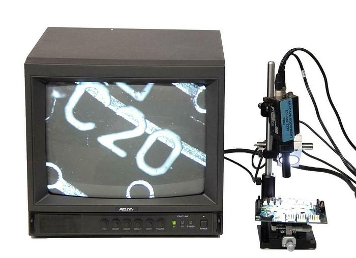 Used Sony XC-75 CCD Video Camera Microscope + Linear Stage & Thorlab Illuminator 8982