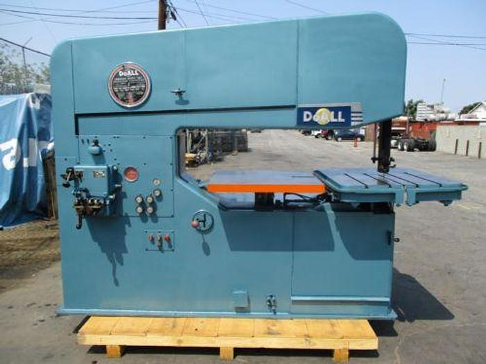 "Used 60"" DOALL MODEL 60-3 VERTICAL BAND SAW 40 - 9000 FPM LOADED WITH"