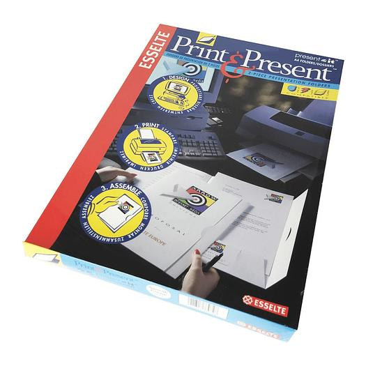 Present-It Presentation Folder Panel-Style - Smooth Cream (100)