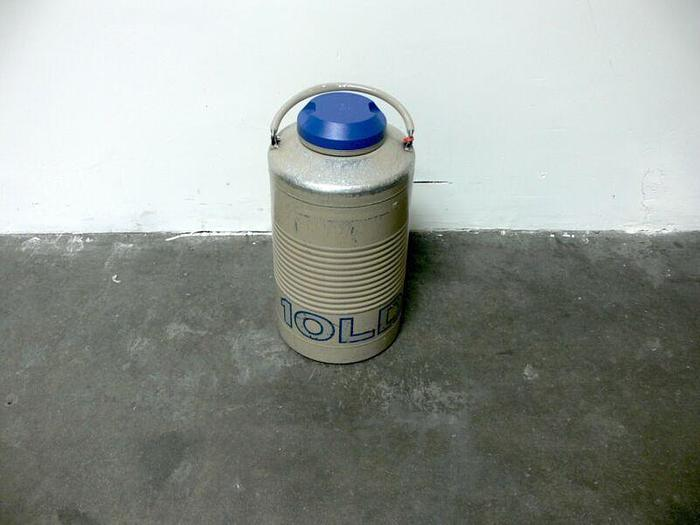 Used Taylor Wharton 10 LD 10 Liter Liquid Nitrogen Cryogenic Storage Dewar 10LD