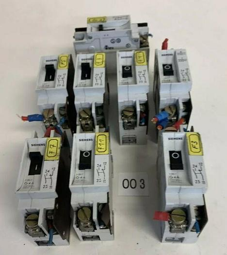 Used Siemens G4A  Circuit Breaker, Used (Lot Of 8) Fast Shipping!