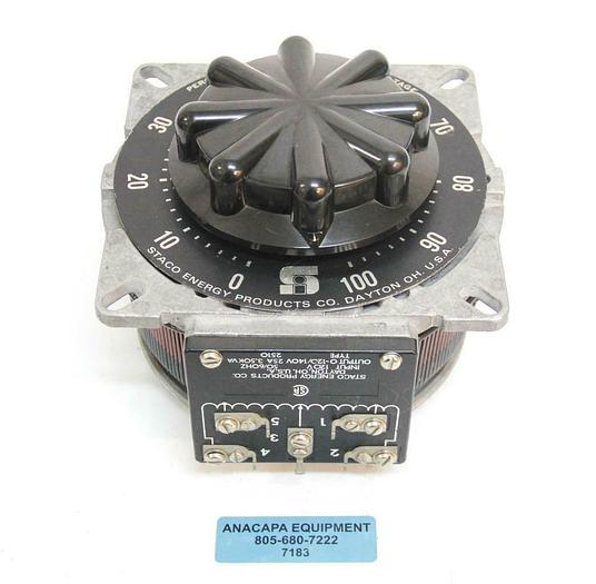 Used Staco Energy Products 2510 120V Variable Transformer USED (7183) R
