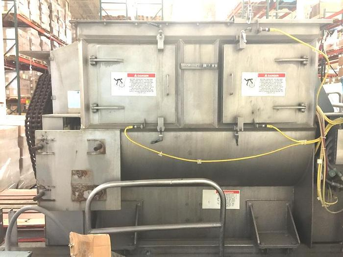 Used 53 CU. FT. (1500 LITER) AMERICAN PROCESS FLUIDIZING PADDLE MIXER / BLENDER - S/S - 30 HP