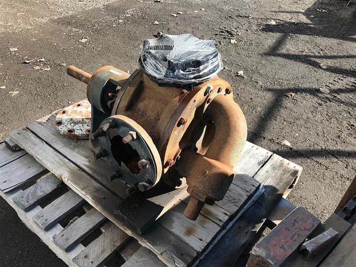 """USED GEAR PUMP, 6"""" X 6"""" INLET & OUTLET, CAST IRON, VIKING"""