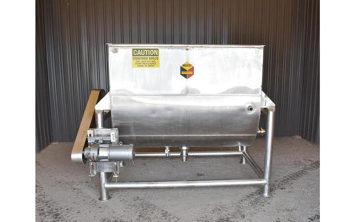 USED RIBBON BLENDER, 100 CUBIC FEET, JACKETED