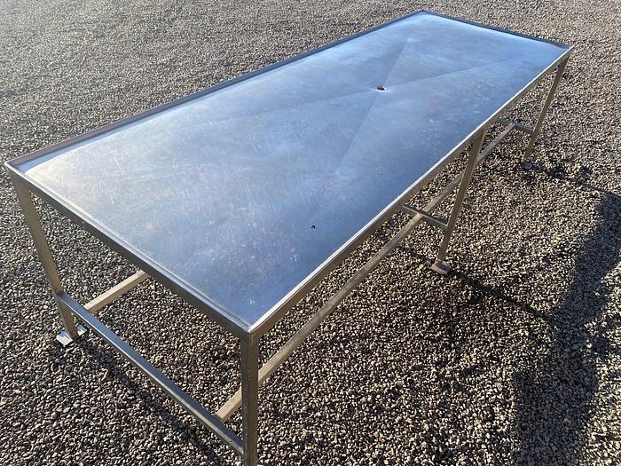 Använd Rostfritt Korvbord 280x100cm