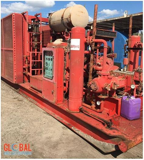 Used Item 0598 : Sullair 1350CFM / 350PSI Air Compressor & Ariel JGA-2 2-Stage Booster Combination