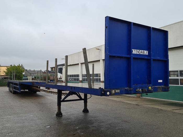 Used 1996 Lintrailers 3AUON 18 27 Flatbed with Timberstakes  (extendable 21m)
