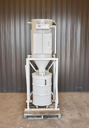 Used USED CAPT-AIR CARTRIDGE DUST COLLECTOR WITH EXPLOSION VENT, PULSE AIR, 54 SQ.FT.