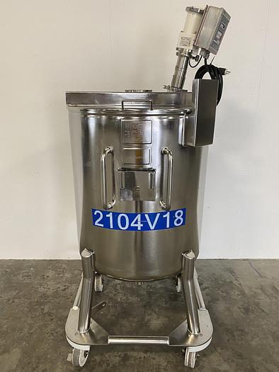 Used Precision  500 Liter Stainless Steel Mixing Tank w/ PharMix Agitator & Controller