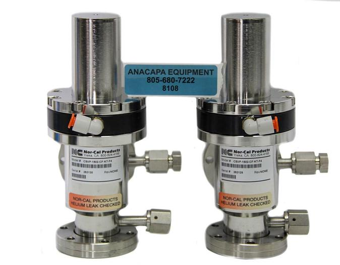 Used Nor-Cal Products CSVP-1502-CF-KT-F4 Pneumatic Right Angle Valve Lot of 2 (8108)W