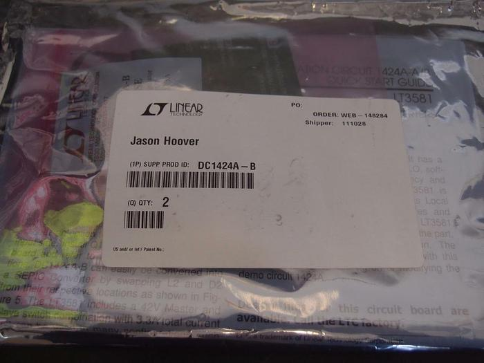 Linear Technologies DC1424A-B and DC142A-A Demo Board New (956)
