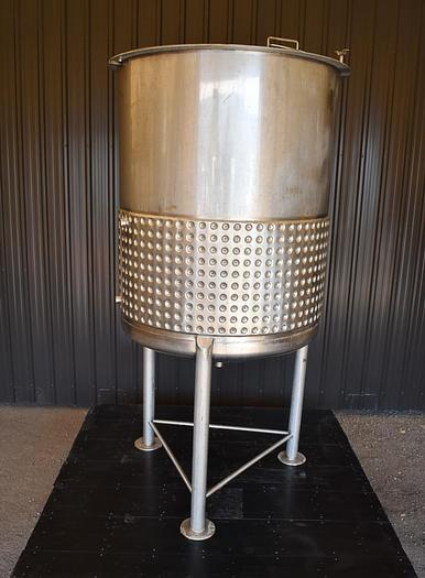 USED 300 GALLON JACKETED TANK, STAINLESS STEEL