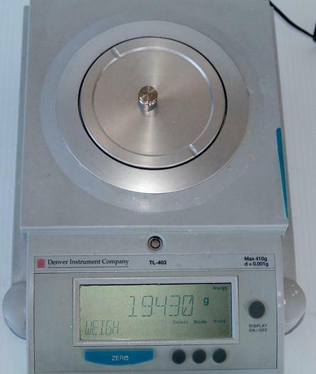 Used Denver Instrument TL-403 Precision Balance & Power Adapter .001 to 410 Gram 7576