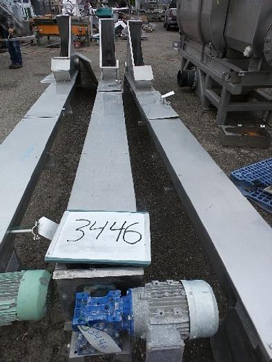 SAFI Stainless Steel Screw Conveyor 8'' wide x 16' long