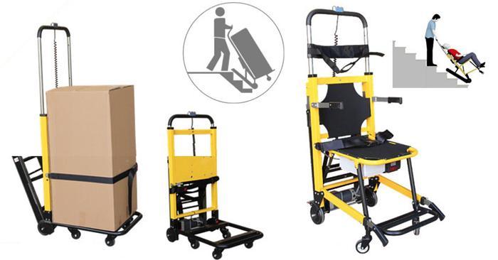 Gebraucht Treppensteiger Raupenystem Treppenlift Rollstuhl Patient Verpackung Chair Stair Climbing
