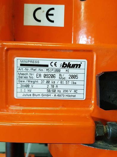 2005 BLUM Minipress M 51P1000
