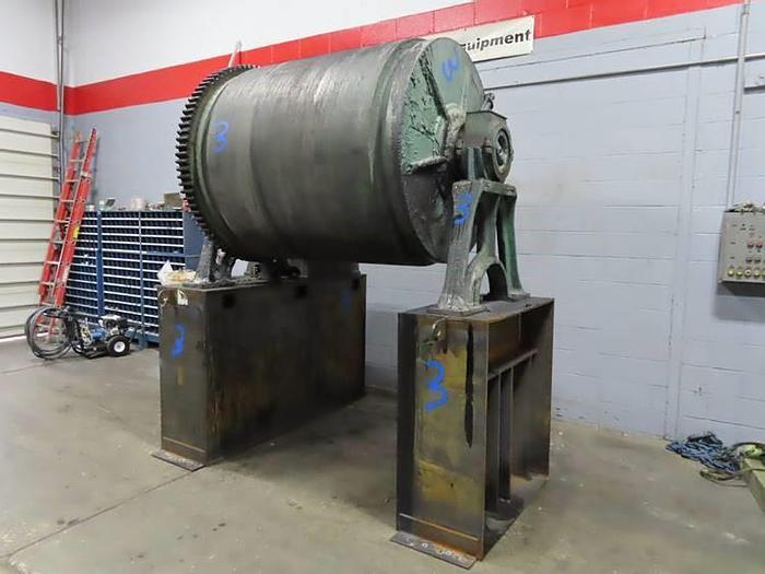 Used 4' x 5' Patterson Steel Ball Mill with Drive and Stand (#9871)