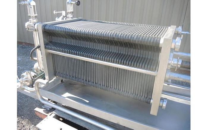 USED FILTER PRESS, POLISHING FILTER PRESS, 406 MM X 406 MM, POLYPROPYLENE
