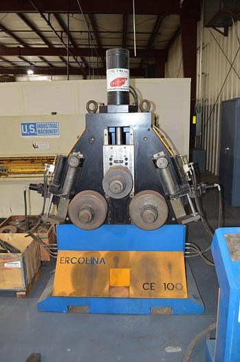 Ercolina  4″ x 1/2″ Hydraulic Programmable Angle Roll-Section Bender with 3-Axis Twist Correction