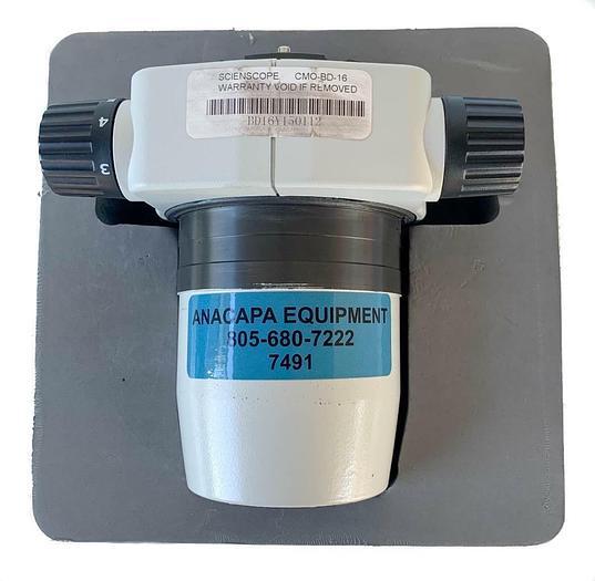Used Scienscope CMO-BD-16 Zoom Body 1:6 Ratio Microscope Body (7491) W