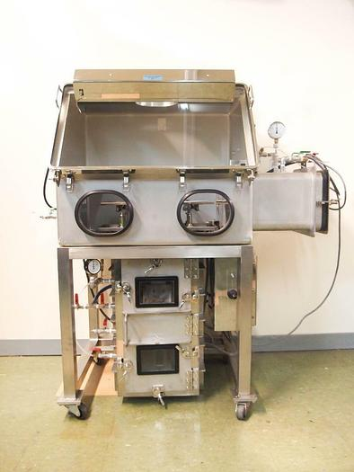 Used Glove box Isolator with AnteChamber & Specialized Vacuum Elevator, Stainless