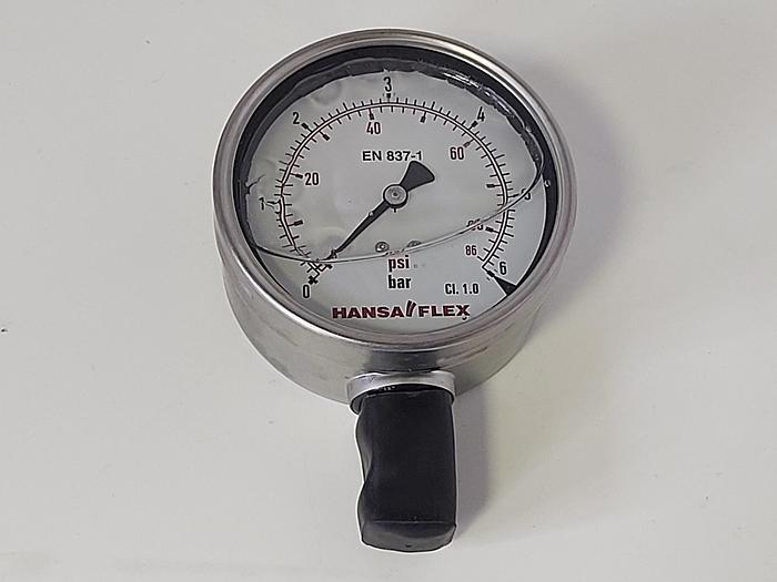 Manometer Genauigkeitsklasse Cl 1.0, GMM NG100, 0-6 bar, Hansaflex neu