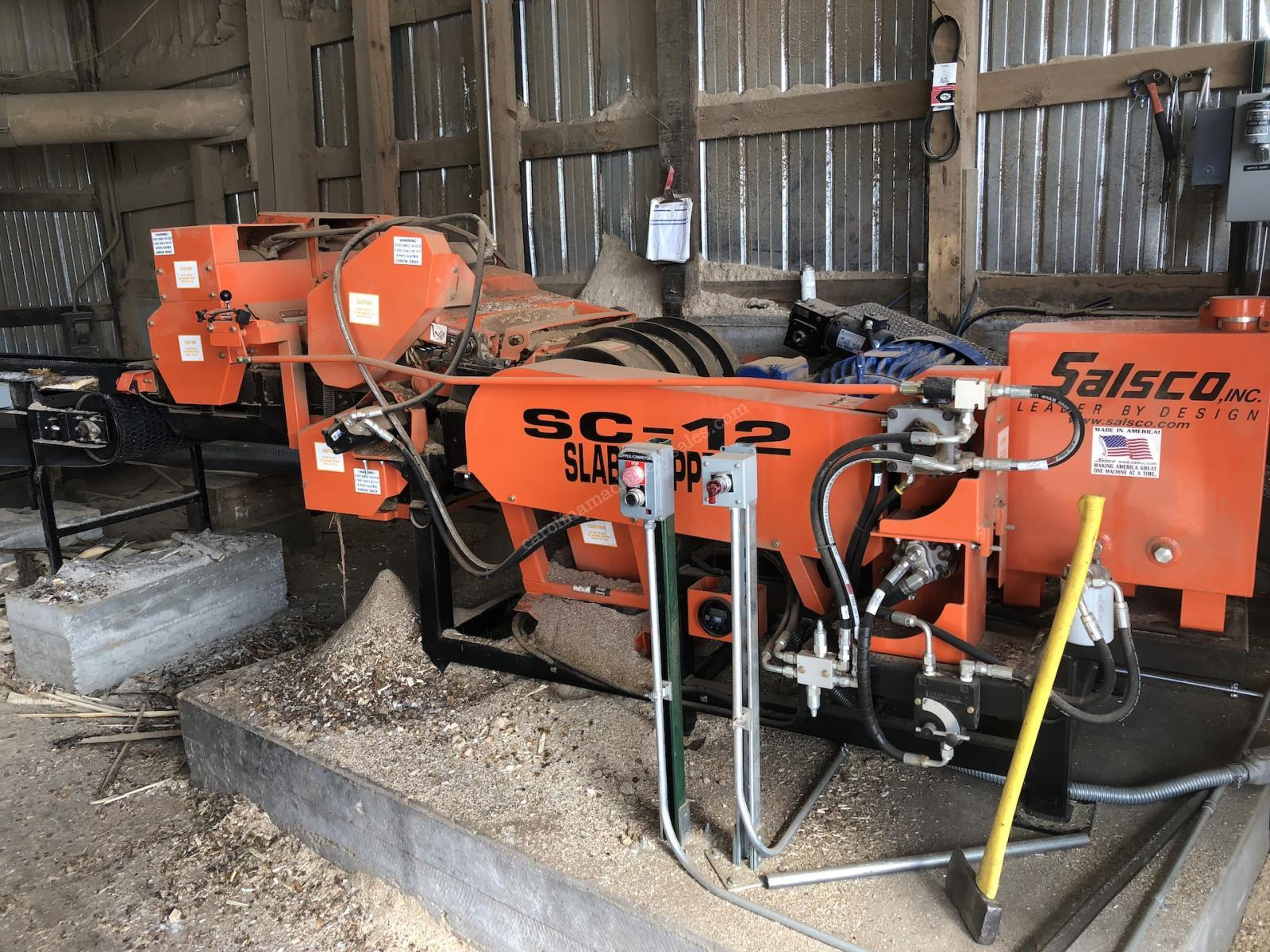 Used Salsco SC12 Chipper for Animal Bedding