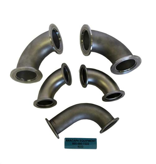 Used Nor-Cal Products 2E-NW-50B NW50 90° Radius Elbow, 2E-NW-40B NW40 Lot of 5(8222)W
