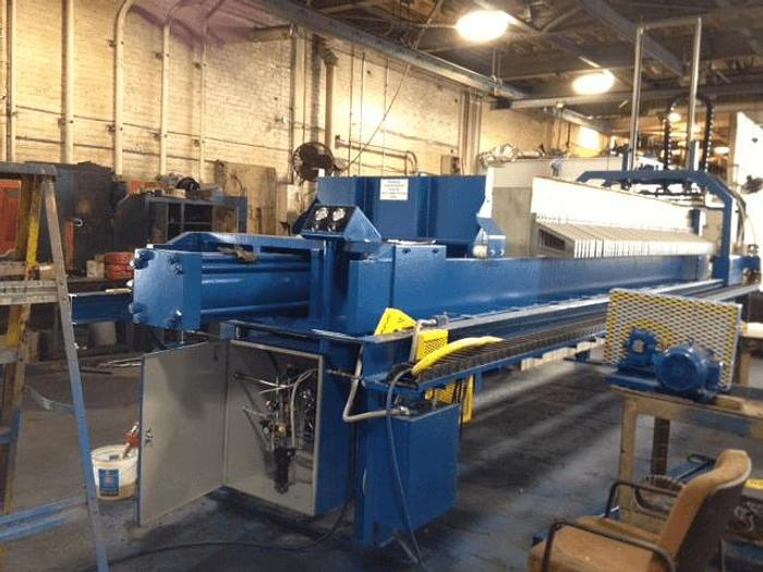 Used 180 CU. FT. MET-CHEM FILTER PRESS – 1200 MM – NON-GASKETED – #7800