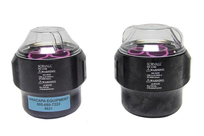 Used Sorvall 11788 Centrifuge Swinging Buckets For H-1000B Rotor Lot of 2 (8621)W
