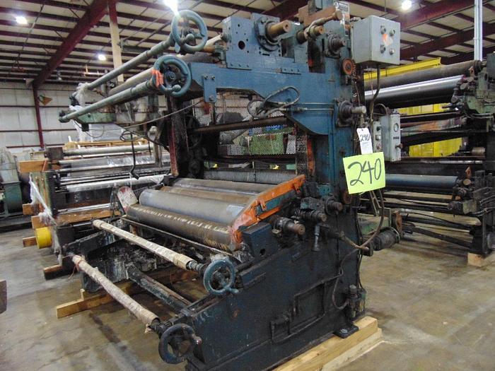 "Used Wolverine 66"" 2-color Printing Press + Wolverine 68"" Printing Press Rolls"