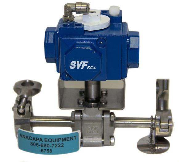 """Used Compact H15 SR-1B2Z I/90 Actuator SVF Flow Controls CF3M 1/2"""" Ball Valve (6758)W"""