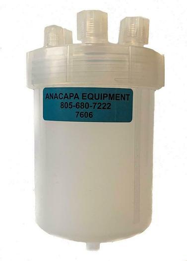 Used Savillex 1000ML Molded Drain Jar W/ 7Port 110MM Transfer Closure USED (7606)W
