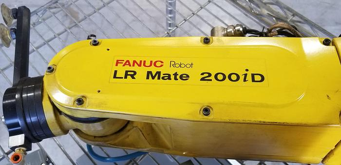 Used FANUC LR MATE 200iD 6 AXIS CNC ROBOT WITH R30iB CONTOLLER