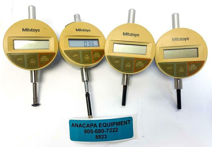 Used Mitutoyo IDS-1012E Digital Indicator 543-611 Lot of 4 (8823)W