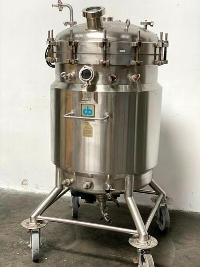 Used Cherry Burrell 300 Liter Jacketed Stainless Steel Reactor w/ Bottom mixer