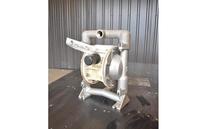"USED VERSAMATIC DIAPHRAGM PUMP, 1"" X 1"" INLET & OUTLET, STAINLESS STEEL"