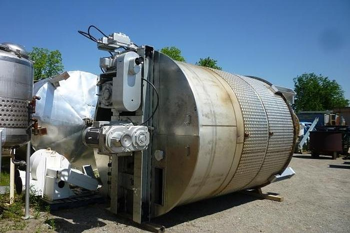 USED 7200 GALLON JACKETED TANK, 316L STAINLESS STEEL, WITH SCRAPE AGITATION