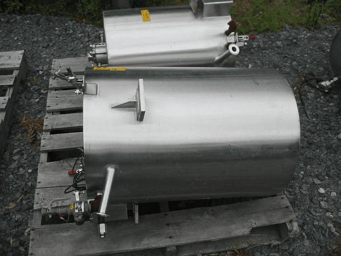 Used 15 GALLON VERTICAL OPEN TOP TANK – SANITARY S/S – JACKETED