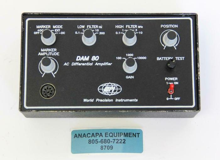 Used World Precision Instruments WPI DAM80 AC Differential Amplifier (8709)W