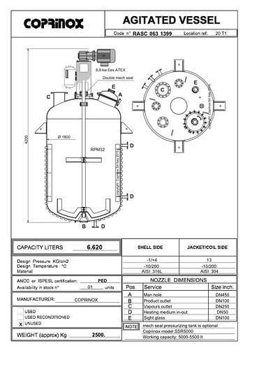 Reattore COPRINOX da 6620 Litri