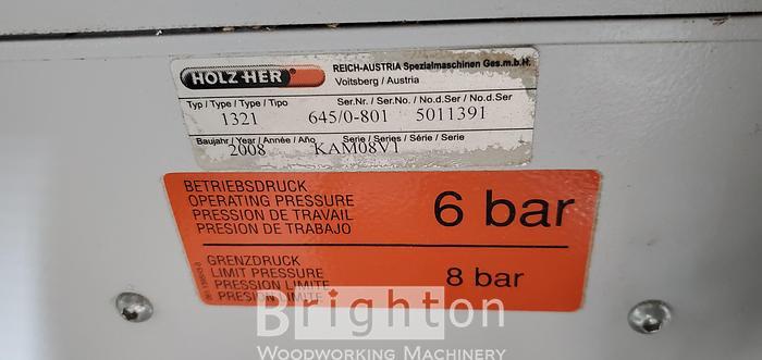 2008 Holzher Sprint 1321 Edgebander c/w premilling & corner rounding
